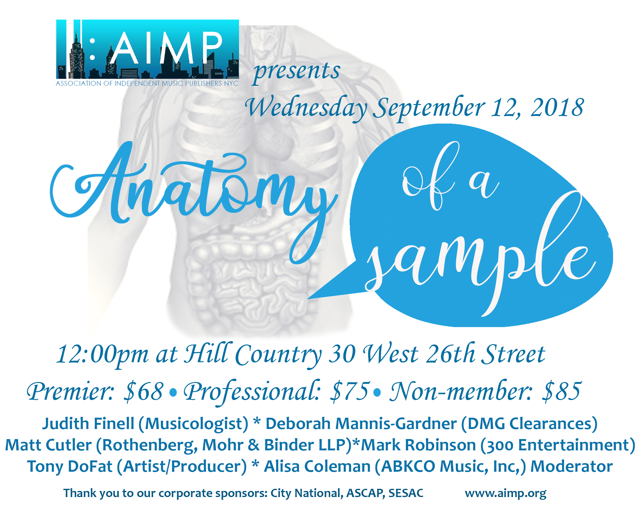 AIMP : Events - Anatomy of a Sample