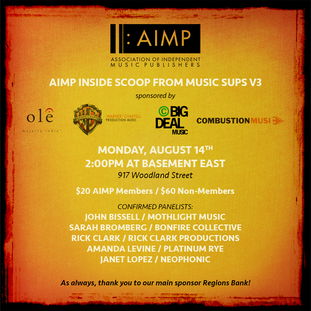AIMP : Events - Inside Scoop From Music Sups V3